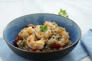 Buckwheat Salad with Prawns Recipe