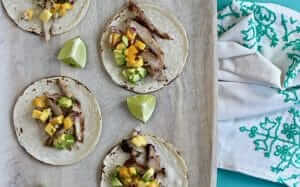 Jerk Chicken Tacos with Mango Avocado Salad Recipe