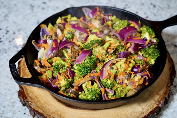 Broccoli & Mushroom Stir Fry Recipe
