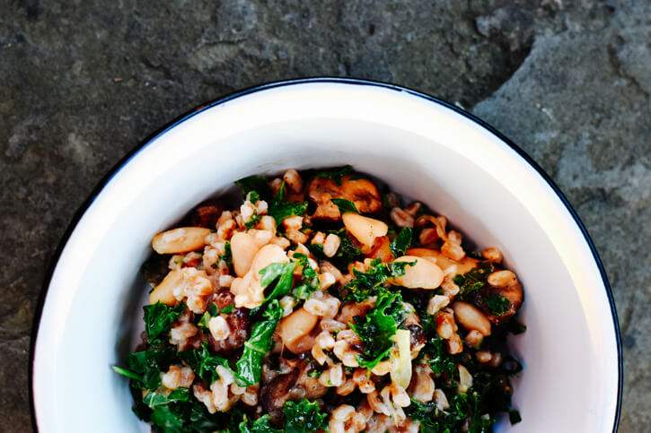 Farrow with White Beans & Kale Recipe