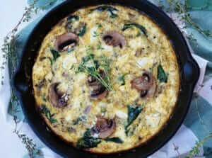 Spinach, Mushroom and Goat Cheese Frittata Recipe