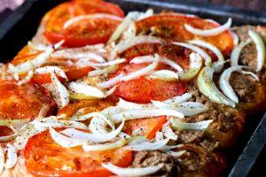 Hummus Flatbread Pizza Recipe