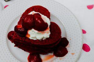 Pink Heart Beet Pancakes Recipe