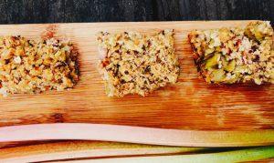 Rhubarb Crisp Bars Recipe