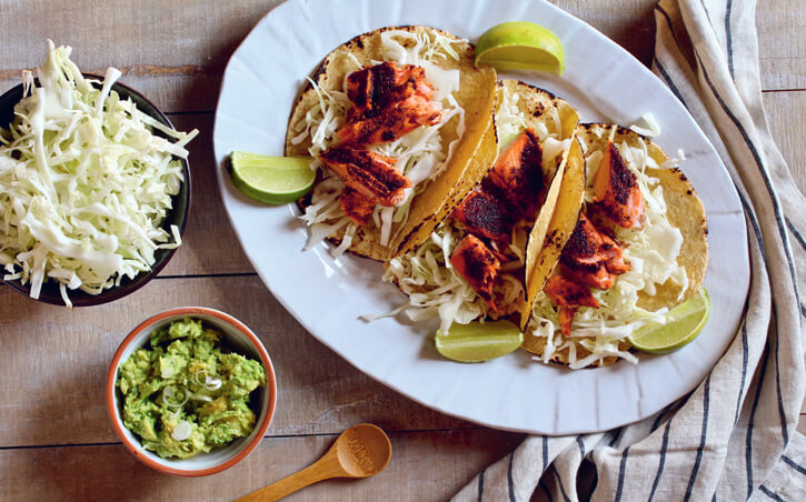 Brown Sugar Chili Salmon Tacos Recipe
