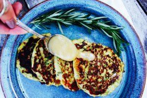 White Cheddar Zucchini Cakes Recipe